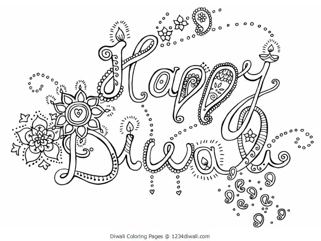 Diwali Colouring Pages Kids Acticity