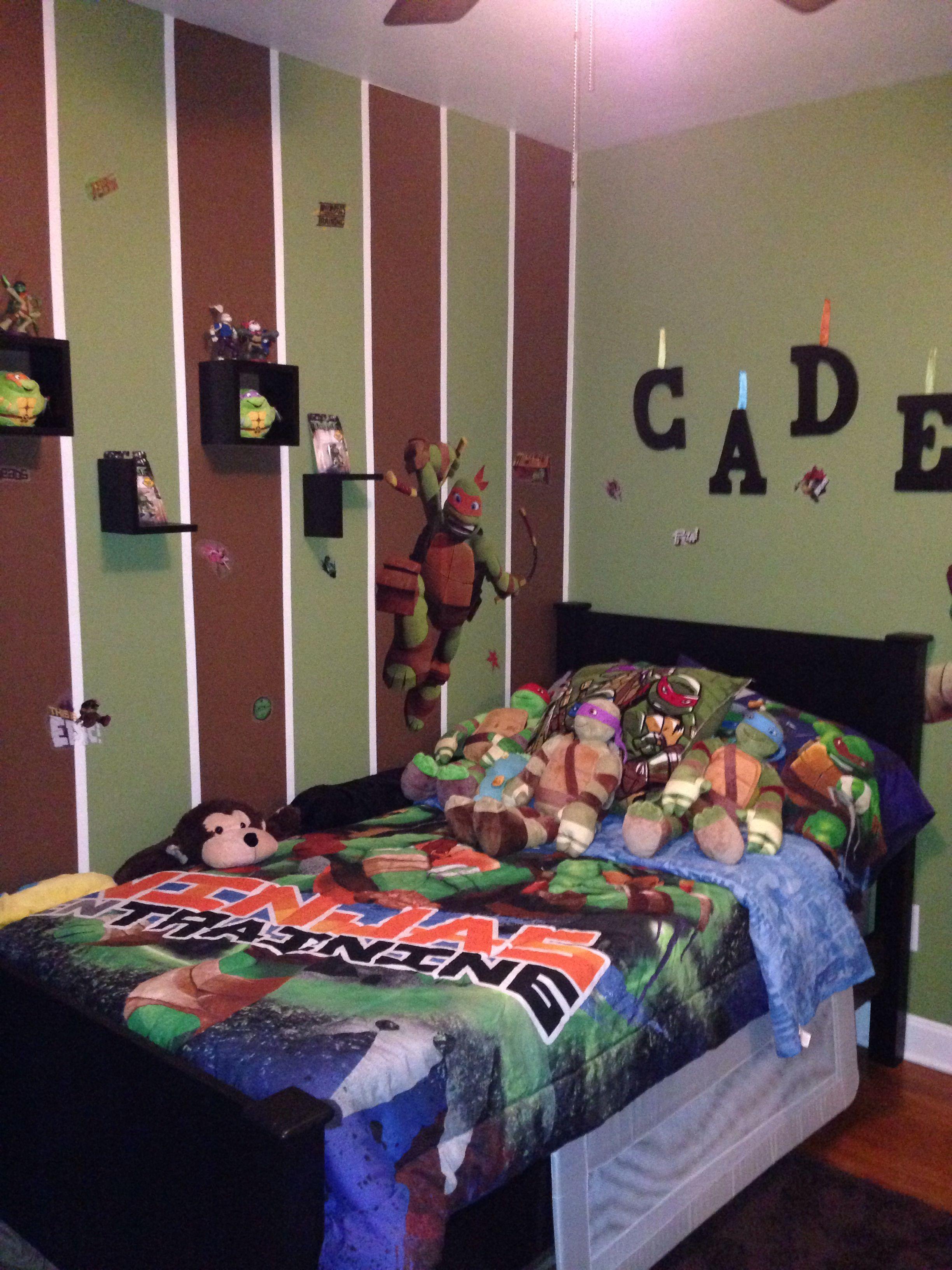 Ninja turtles bedroom  For the Home  Pinterest  Ninja turtle bedroom Bedrooms and Room