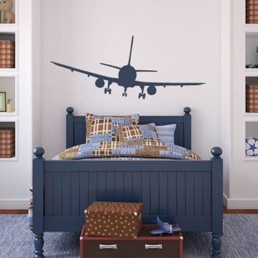 Airplane wall decals personalized name boy nursery decal aviation room decor childrens clouds vinyl also commercial airliner sticker art travel agency rh pinterest