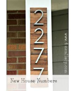 New house numbers project from paint stir sticks via men lady also genius  have these for our what  great way to rh pinterest