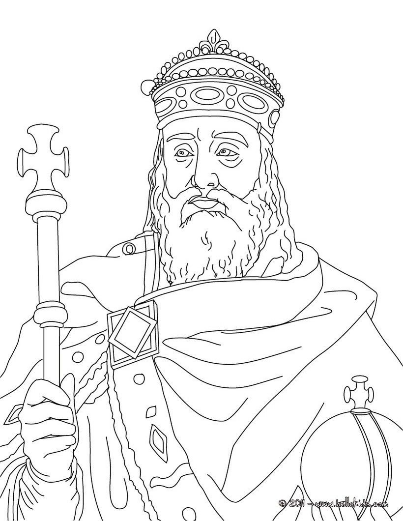 Charlemagne Coloring Page Helpful early learning work