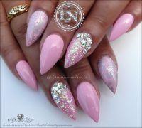 Luminous Nails: Plush Pink & Silver Nails... Acrylic & Gel ...