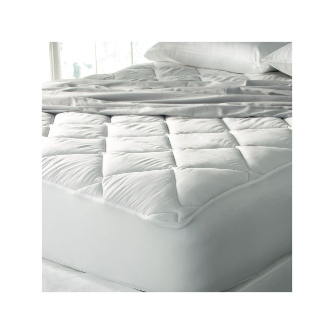 Ed Bauer 400 Thread Count Premium Cotton Mattress Pad White