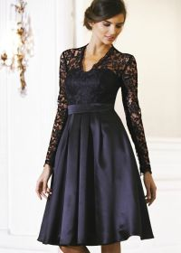 long lace black bridesmaid dresses | Teatro Lace Long ...