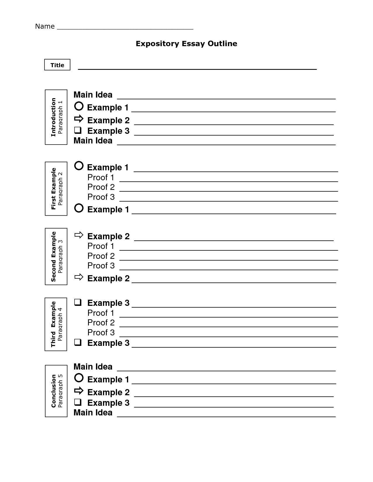 Essay Outline Help