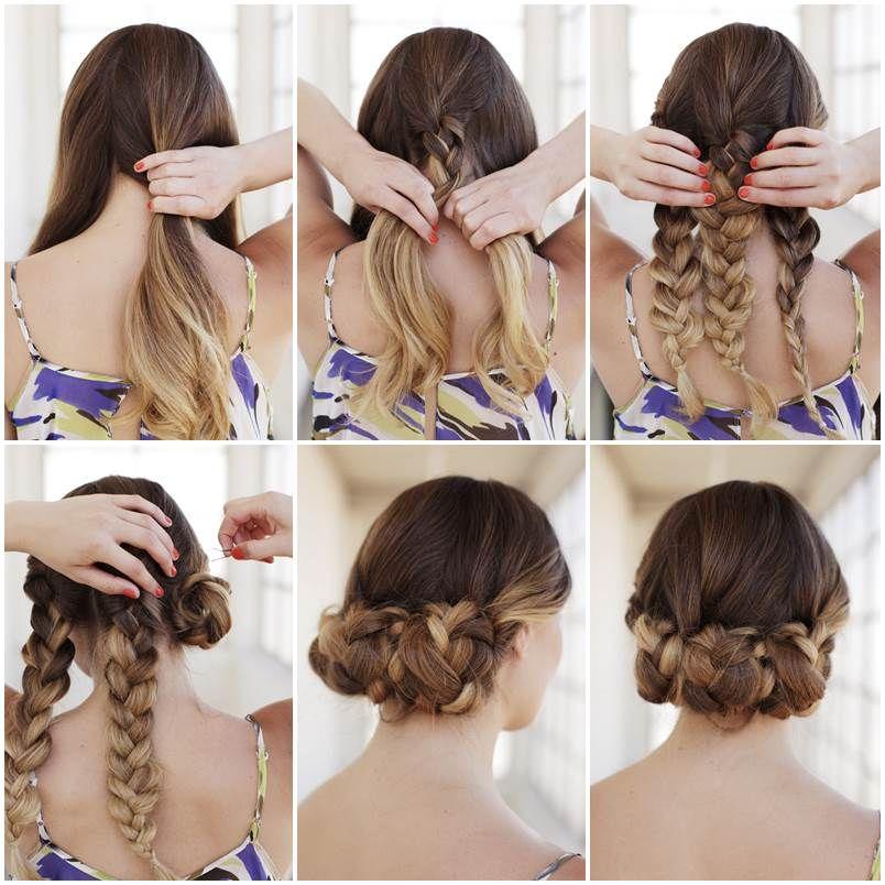 Creative Ideas DIY Easy Braided Updo Hairstyle Updo Creative