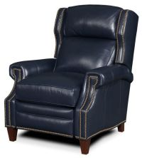 navy blue leather recliner chair