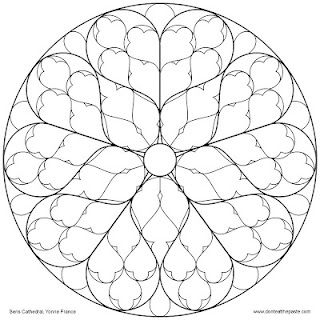 Don't Eat the Paste: Sens Cathedral Rose Window to color