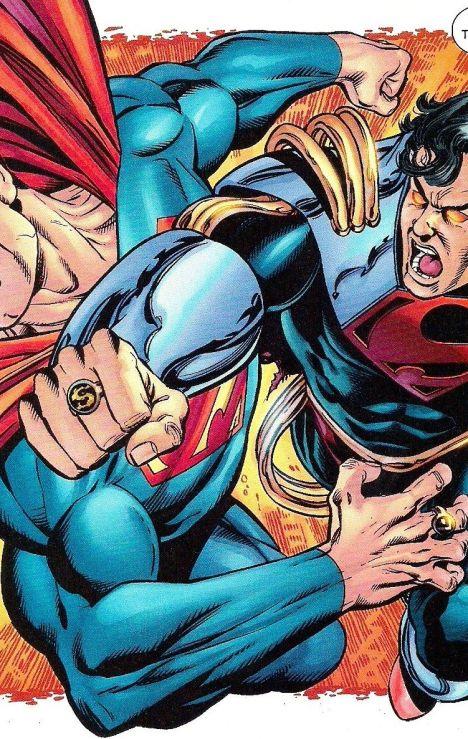 Resultado de imagem para Superman and Superman prime