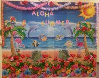Aloha Summer Decor. Summer decoration. Classroom wall ...
