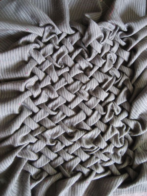 Fabric Manipulation Smocking Sample