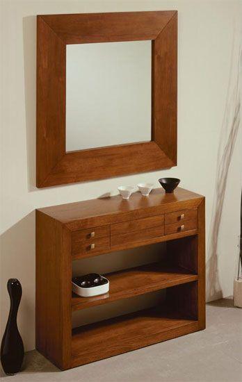 Consola Recibidor Wood  Espejos y consolas  Pinterest