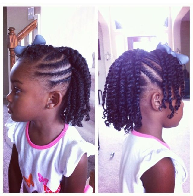 Flat Twist Hairstyle For Kids Blackhairinformation