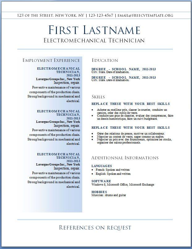 Best Resume Templates Download
