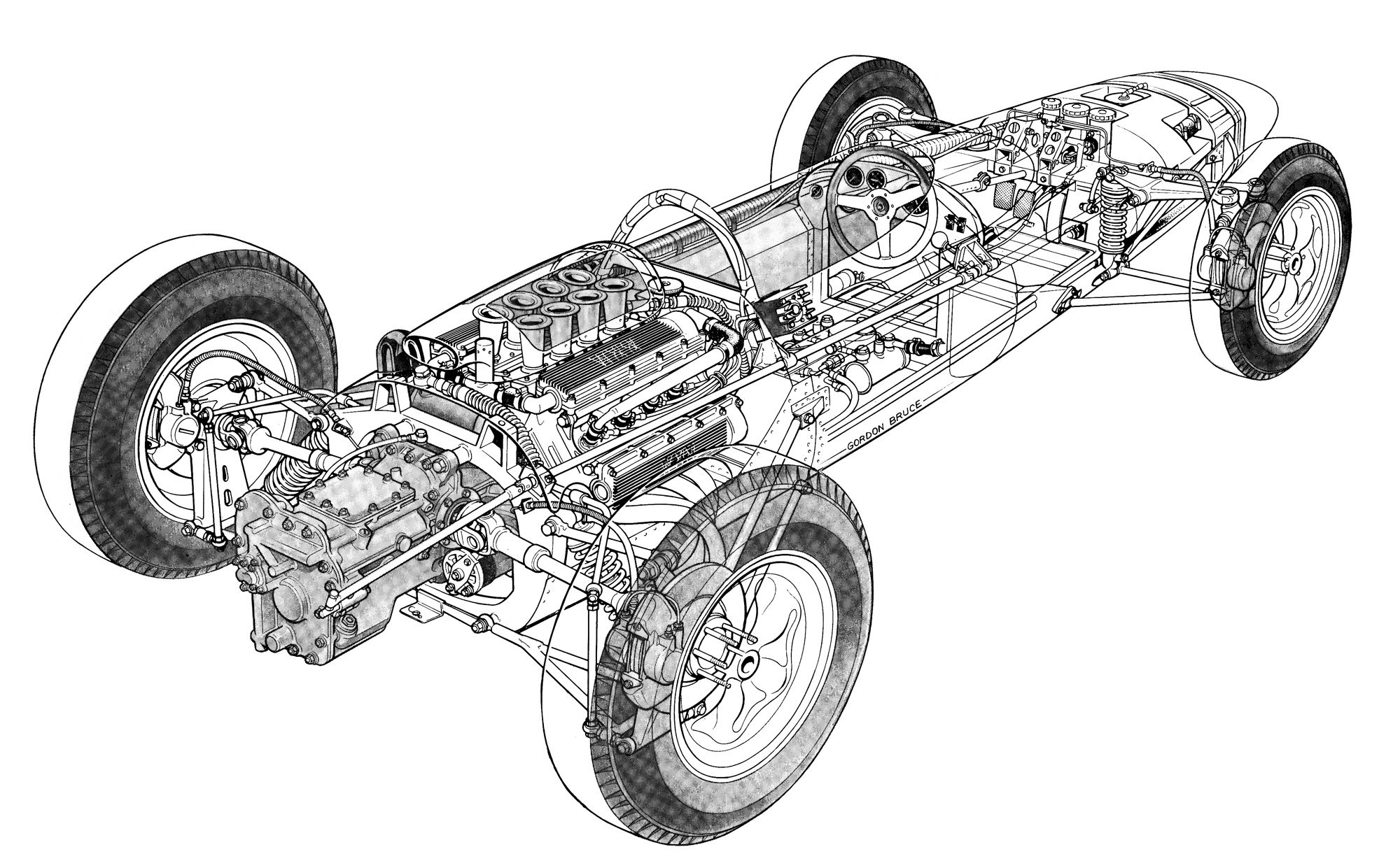 Lotus With Brm Engine By Gordon Bruce