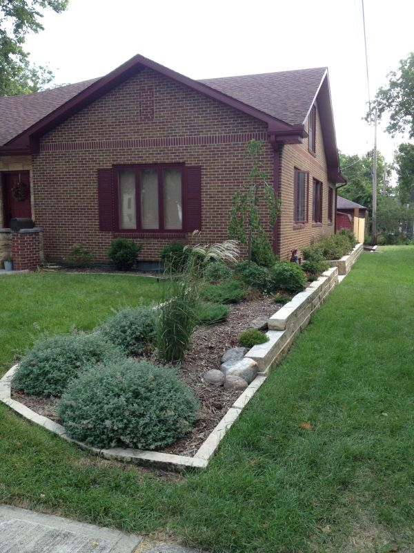friendly property line border planting