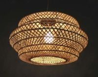 ENTRY Double Lamp Shade Hand Woven From Bamboo Pendant ...