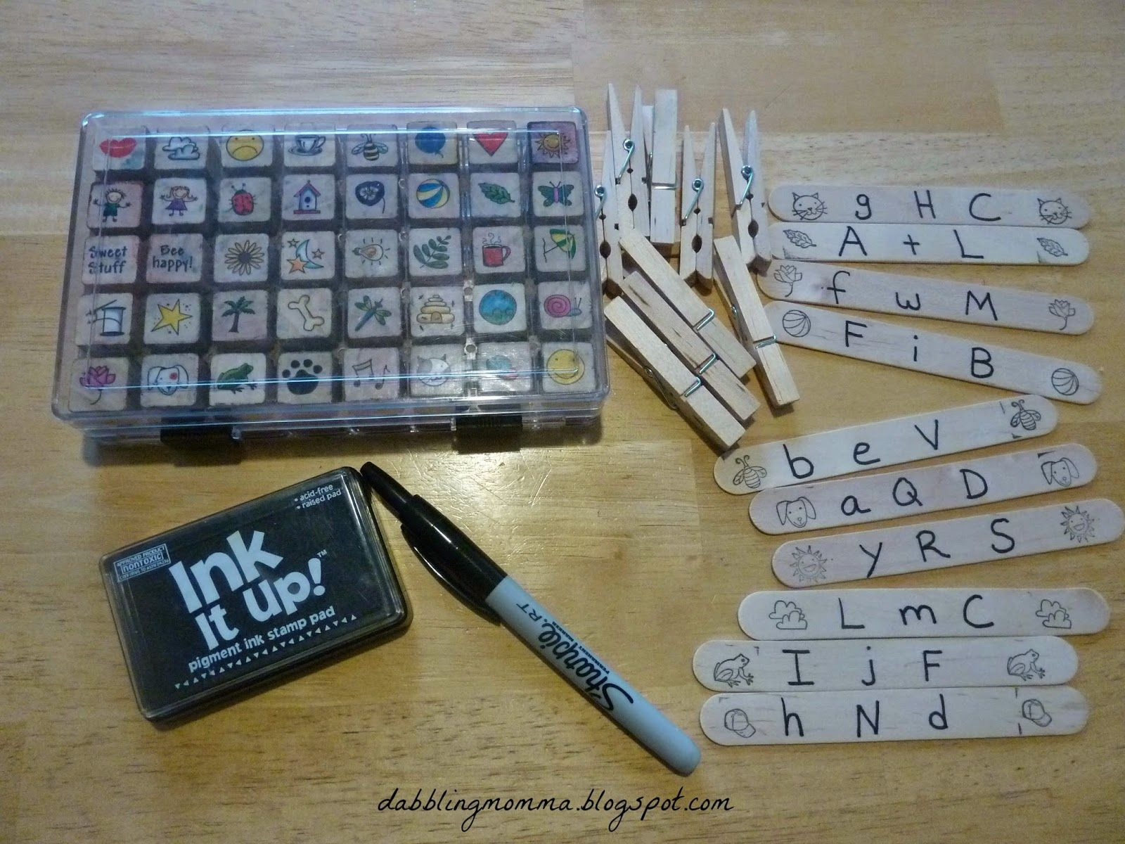 Use Craft Sticks And Stamps To Make A Beginning Sound Busy