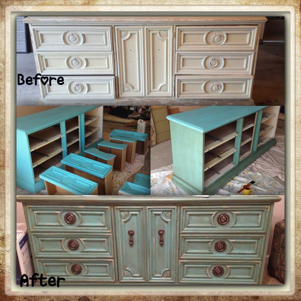 My refurbished dresser  Pin  Do  Pinterest  Dresser