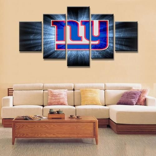 panel new york giants painting canvas wall art frame modular picture home decor living room also rh pinterest