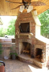 Outdoor Fireplace and Grill..now that's an awesome corner ...
