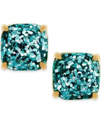 kate spade new york Gold-Tone Small Square Stud Earrings ...