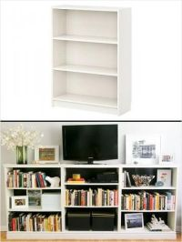 Billy bookcase as tv stand w/ storage | Home decor idea ...