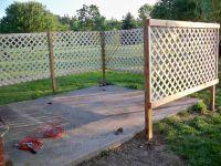 DIY Patio Lattice Fence - add climbing Morning Glorys for ...