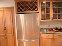 Wine rack for unused space over the refrigerator. Remove ...