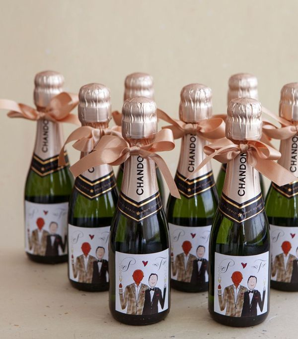 Preston Bailey' Wedding Favors - Mini Champagne Bottle