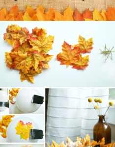 easy fall crafts  diy home decoration ideas for also leaf rh pinterest