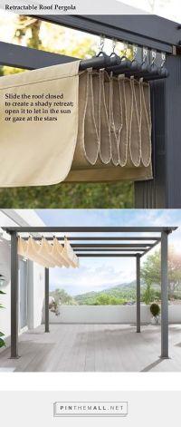 DIY Pergola Retractable roof shade http://www.uk ...