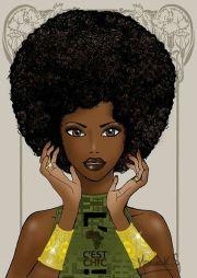 afro natural hair art delta