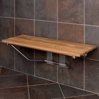 "36"" Folding Teak Shower Seat 