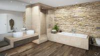 Natrliche Materialien wie Holz und Natursteine, sowie ...