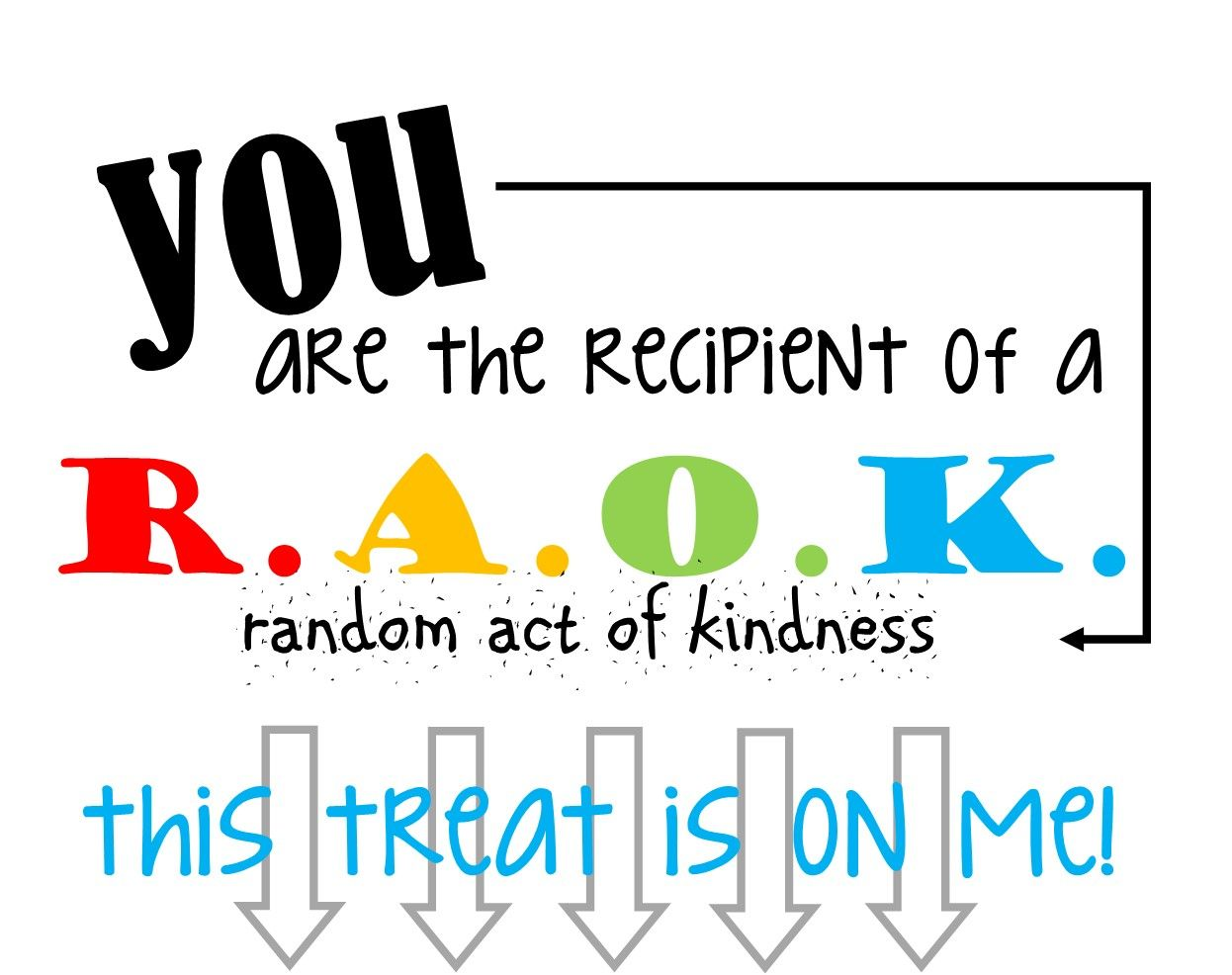 Random Acts Of Kindness Free Printable Labels R A O K