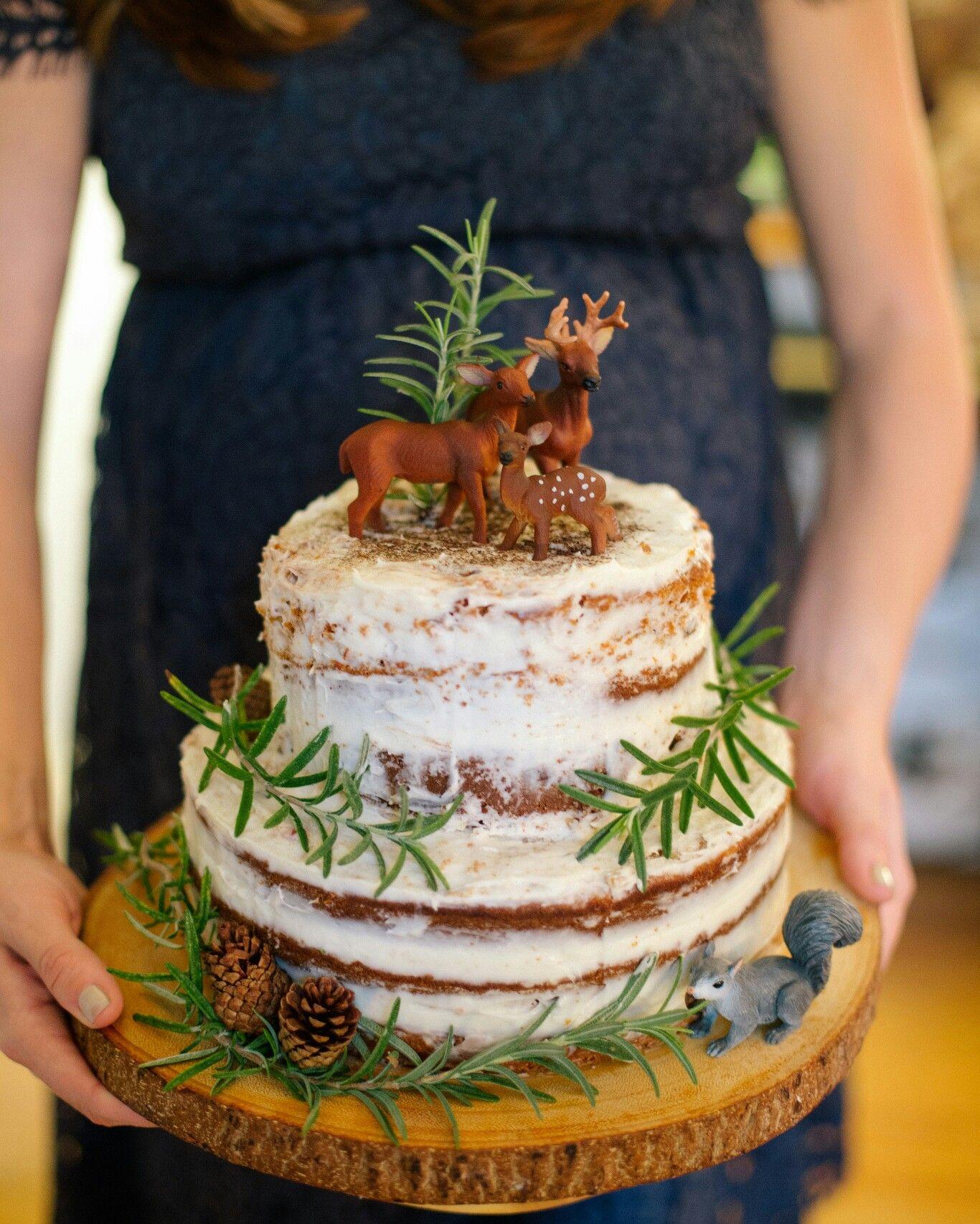 Naked Cake Baby Shower Cake Woodland Theme Baby Shower