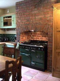 Kitchen with wonderfully wonky original brick chimney ...