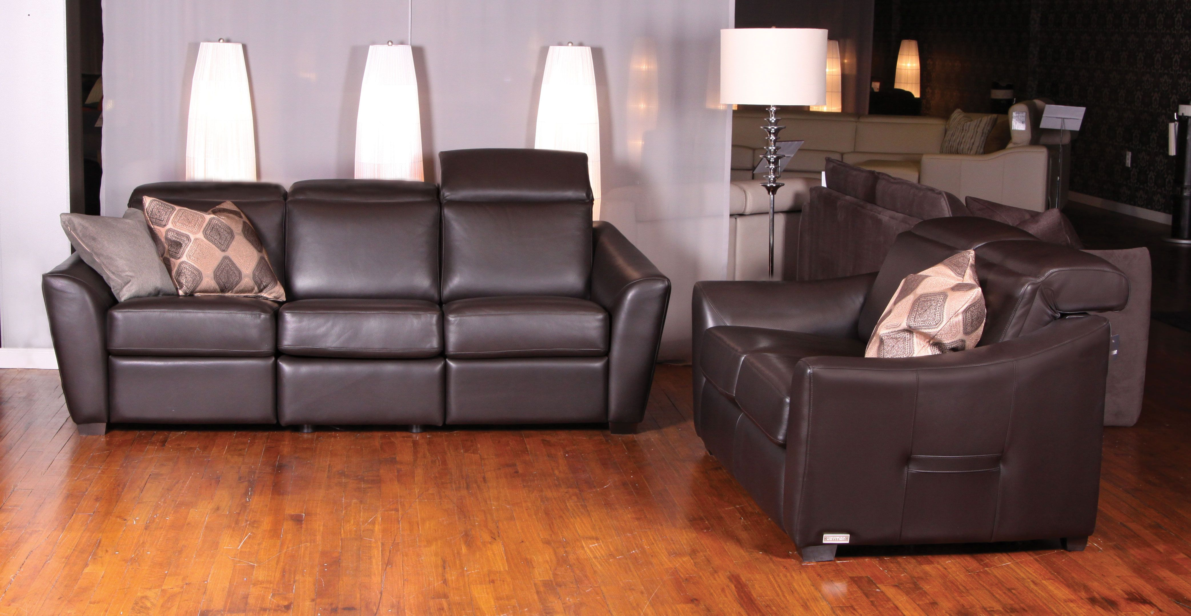 motorized sectional sofa empire sofology julianne leather by jaymar made in canada
