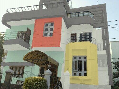 Asian paint exterior colour combination home painting for Asian paints exterior combination