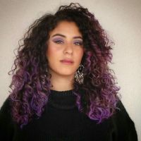 Purple ombre curly hair. | HAIRspiration | Pinterest ...