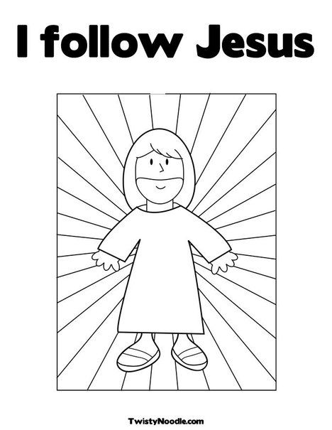 I follow Jesus Coloring Page from TwistyNoodle.com