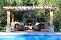 Pool, Pergola, Patio and a Fireplace   Outdoor Fireplaces ...