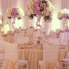 Wedding Chair Covers Lilac Hanging For Sale Romantic Blush Pink And Ivory Reception Table