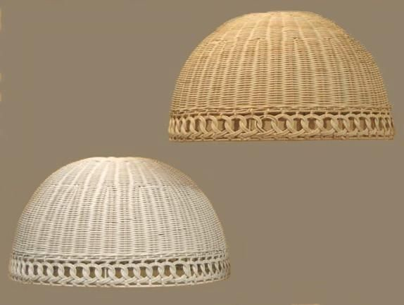 Wicker Org Rattan Lamps Shades Table Lampshade Ceiling Chain