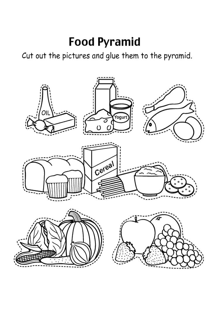 Food Pyramid With Fruit And And Other Coloring Pages