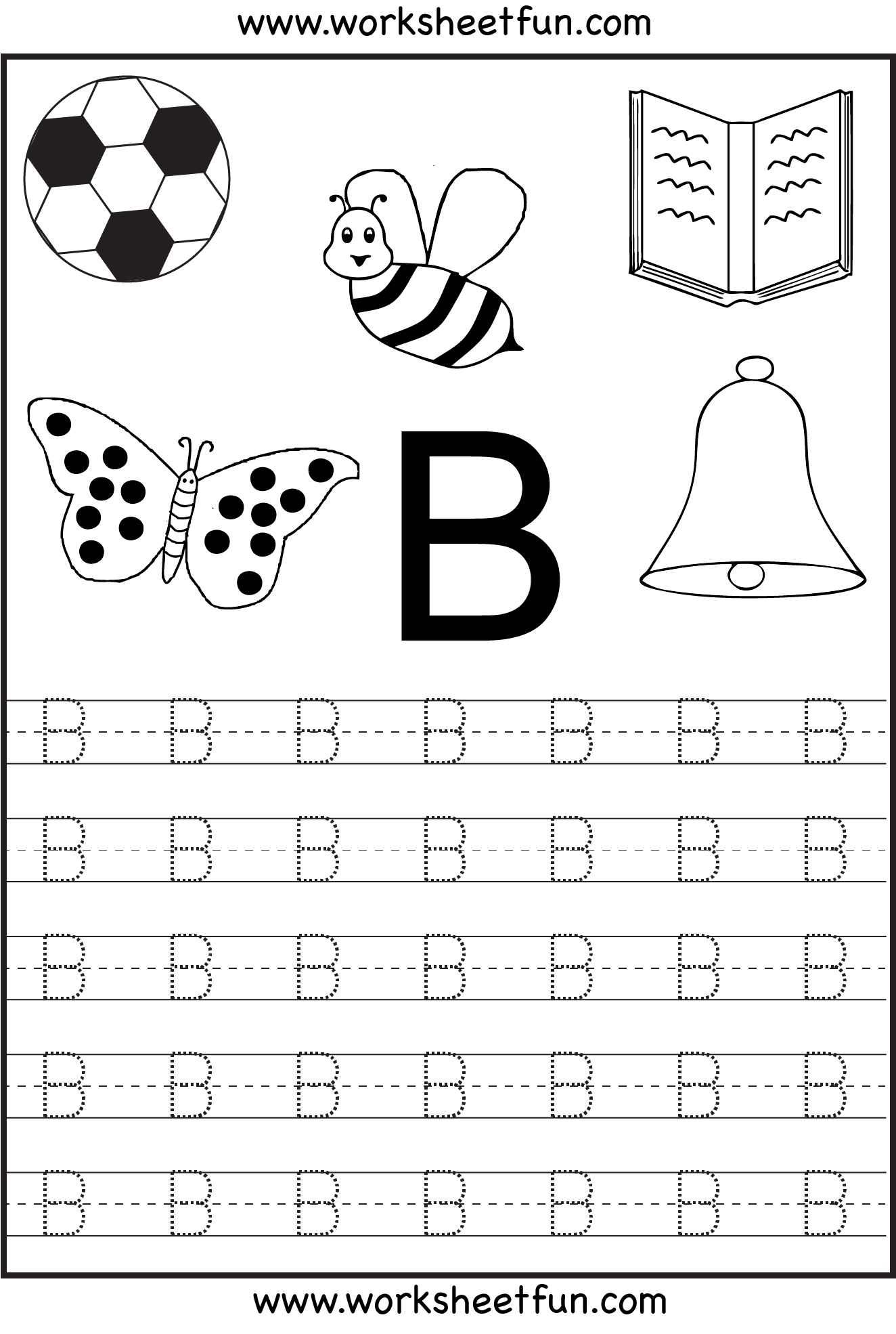 Free Printable Letter Tracing Worksheets For Kindergarten