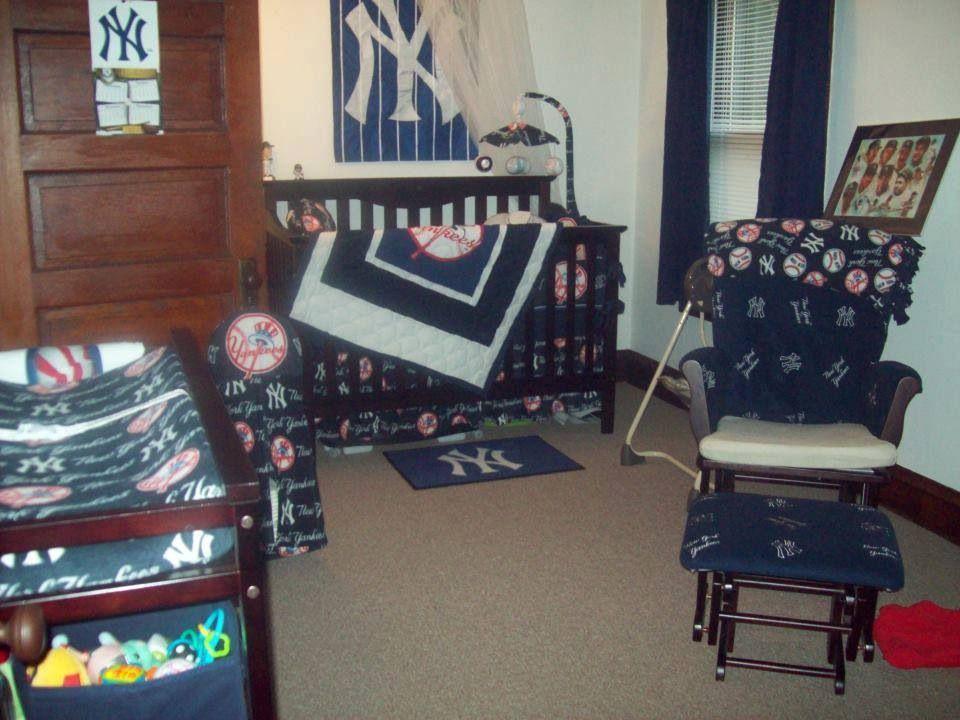 Baby ny yankee room also sonnys modern yankees baseball nursery matty pinterest rh