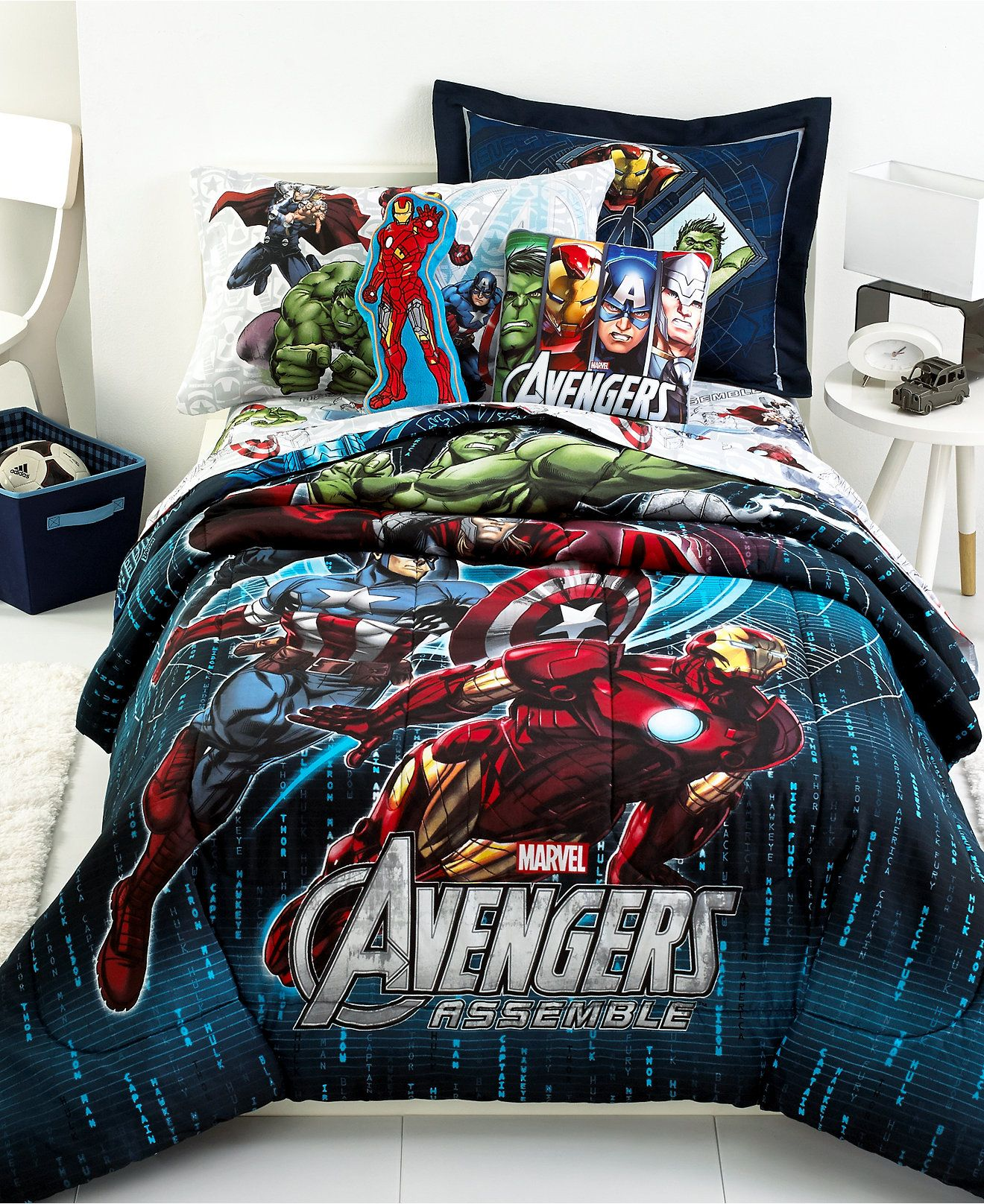 The whole gangs here Iron Man Captain America Hulk and