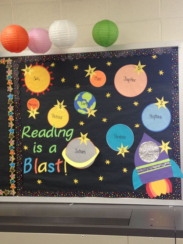 Space Classroom Bulletin Board